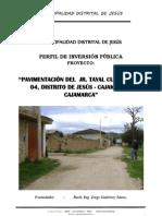 Perfil Pavimentación Jr. Tayal