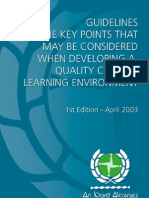 Guidelines on Developing a Quality Clinical Learning Environment 1st Ed. April 2003 (1)