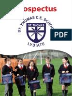 Prospectus of St Thomas' School Lydiate