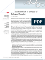 On Quantum Effects in a Theory of Biological Evolution