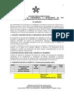 Estudio Previo Compra Materiales Div Institucional 2013