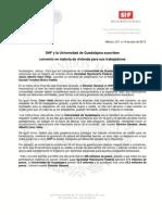 15-07-13  SHF Y LA UNIVERSIDAD DE GUADALAJARA SUSCRIBEN CONVENIO EN MATERIA DE VIVIENDA PARA SUS TRABAJADORES