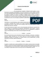 CANALES DE DISTRIBUCIÓN TRABAJO TERMINADO