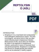 6. Anti-streptolysin o (Asl)