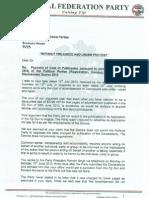 NFP Reply to Registrar
