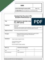 Eu Sop Tp 001 v01 Test Procedure Tp