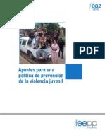 Apuntes Politica Prevencion Violencia Juvenil