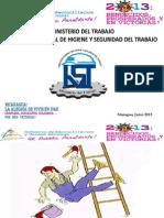 Presentacion Accidentes Labores Ley 618-Trabajadores Mitrab 2013 Empleo y Salario