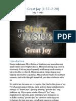 Part 2 - Great Joy (Luke 2:1-20)
