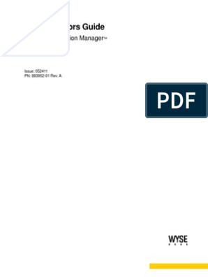 Wyse Configuration Manager 1 0 Admin Guide MAY2011 | Domain
