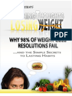 Why 98% of Weight Loss Resolutions Fail....winning thoughts loss weight