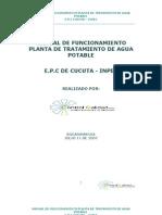 Manual de Funcionamiento Planta de Tratamiento de Agua Potable Cucuta