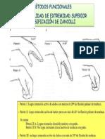 FUNCIONALIDAD DE ZANCOLLI DE EXTREMIDAD SUPERIOR CLASIFICACIÓN