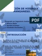 REMOCIÓN DE HIERRO Y MANGANESO.pptx