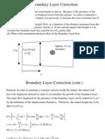 Boundary Layer Correction