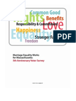 Massachusetts Marriage Equality Works Survey Report