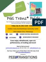 Peel Trans* Pride 2013