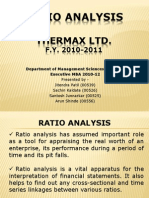 MCS Presentation Thermax Ratio Analysis