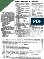 SBI Associate Banks PO Exam 2011 GK Paper