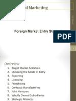 International Marketing Management_foreign Market Entry Strategies