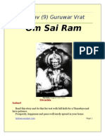 Sai Nav 9 Guruwar(thursday) Vratham