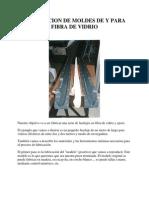 Fabricacion de Moldes de y Para Fibra de Vidrio