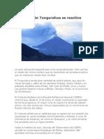 El volcán Tungurahua se reactiva