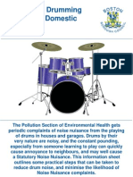 Noise From Drumming Practice in Domestic Premises