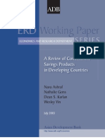 A Review of Commitment Savings Products in Development Countries
