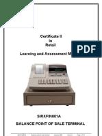 SIRXFIN001A - Balance Point of Sale Terminal