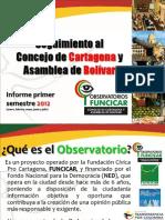 Presentacion Resultados Primer Semestre 2012 Observatorio Al Concejo y Asamblea de Bolivar 0