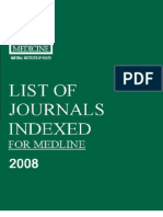 Journal list for medicine
