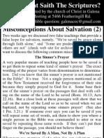 2010.06.16 - Misconceptions About Salvation - Part 2
