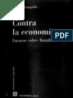 Antonio Campillo, Contra la Economía. Ensayos sobre Bataille