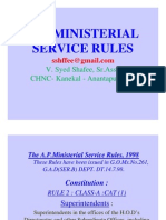 AP Ministerial Service Rules 1998 With Table Under Rule 4