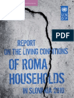 Report on the living conditions of Roma households in Slovakia 2010