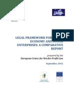 Legal framework for social economy and social enterprises
