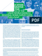 Policy brief - Roma education