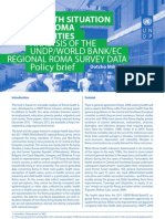 Policy brief - Roma health