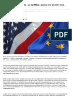 Americanità o Europa - Lo spiffero, quello che gli altri non dicono