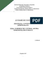 Formele de Control Asupra Administratiei Publice