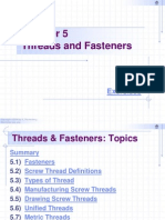 Chapter 5 - Threads and Fasteners