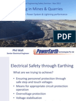 Earthing in Mines and Quarries Slide Presentation Phillip Wall