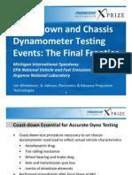 Coastdown Chassis Dynamometer Testing Events(1)