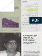 About Sri Sainathuni Sarath Babuji in the 'Mountain Path' magazine.
