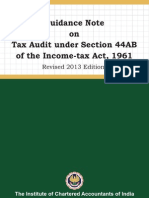 GN on Tax audit 2013