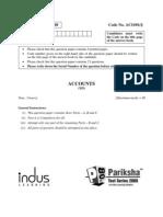 Accounts- II (Qus. Paper)