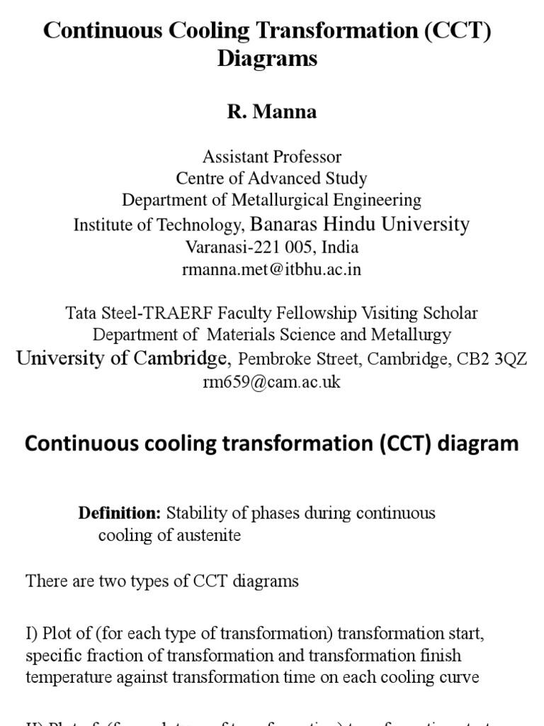 Cct diagram for steelspdf heat treating steel ccuart Gallery