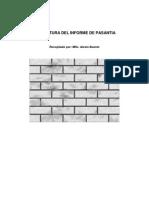 Estructura Del Informe de Pasantia