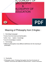 Foundation Concept of Philosophy
